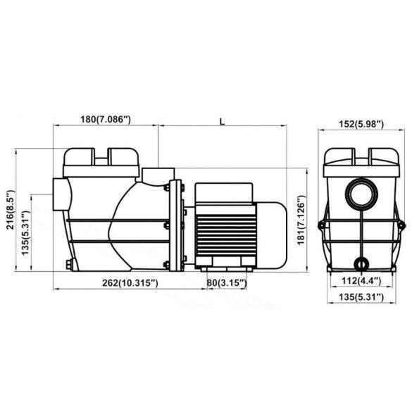 Basic előszűrős szivattyú  6m3/h