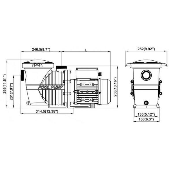 Basic előszűrős szivattyú  9m3/h