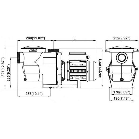 Basic előszűrős szivattyú  17m3/h