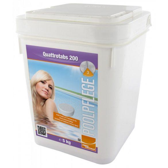 Aquacorrect Quattrotabs (200 gr) 5kg, 4in1 multi tabletta