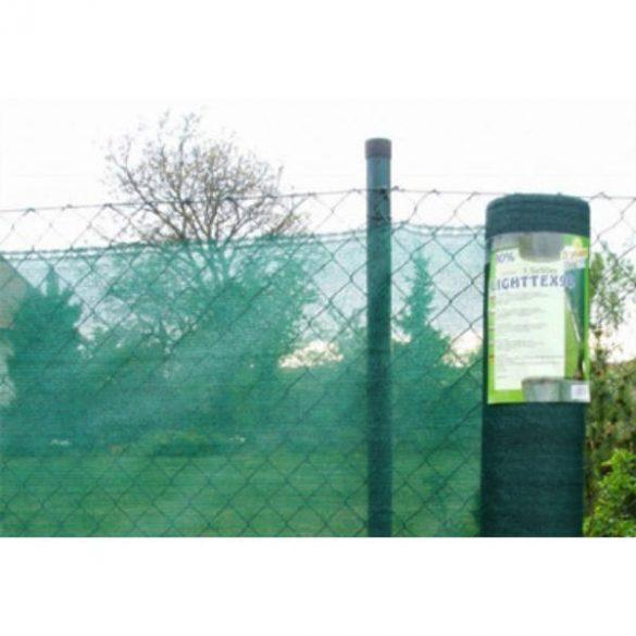 Árnyékoló háló medence fölé, kerítésre, LIGHTTEX 1,5x10m zöld 80%-os takarás