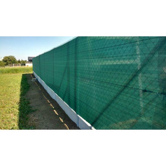Árnyékoló háló medence fölé, kerítésre, GOLDTEX 1,2x50m zöld 95%-os takarás