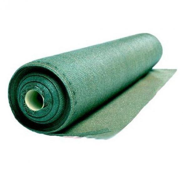 Árnyékoló háló medence fölé, kerítésre, GOLDTEX 1,8x50m zöld 95%-os takarás
