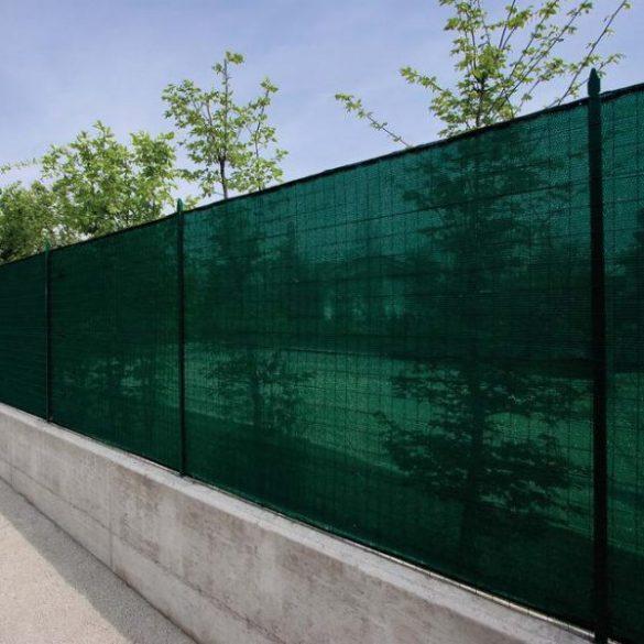 Árnyékoló háló medence fölé, kerítésre, MEDIUMTEX 2x10m zöld 90%-os takarás