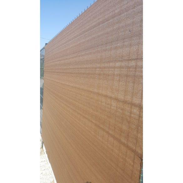 Árnyékoló háló medence fölé, kerítésre, BROWNTEX  1,8x10m barna 90%-os takarás