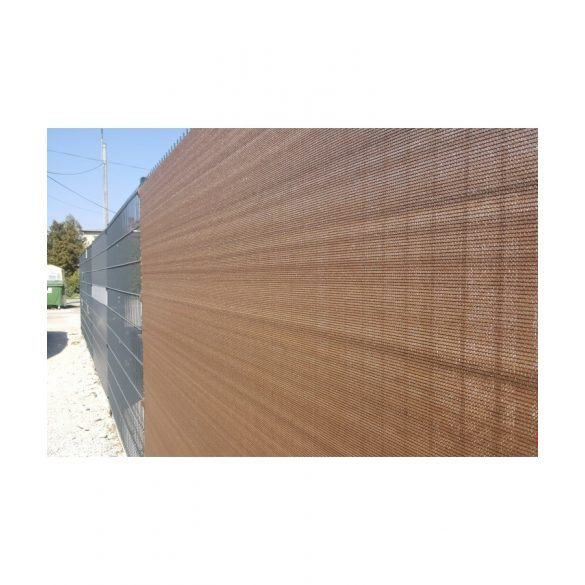 Árnyékoló háló medence fölé, kerítésre, BROWNTEX  1x50 m barna 90%-os takarás