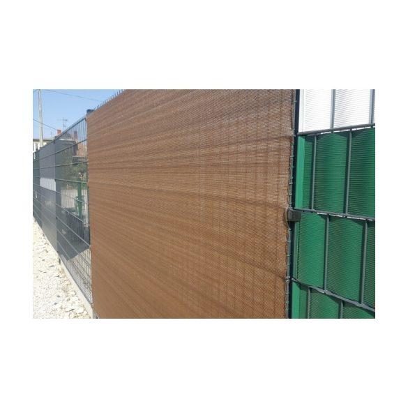 Árnyékoló háló medence fölé, kerítésre, BROWNTEX  1,5x50m barna 90%-os takarás