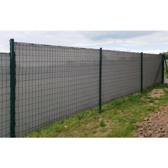 Árnyékoló háló medence fölé, kerítésre, GREYTEX 2x50 m szürke 90%-os takarás