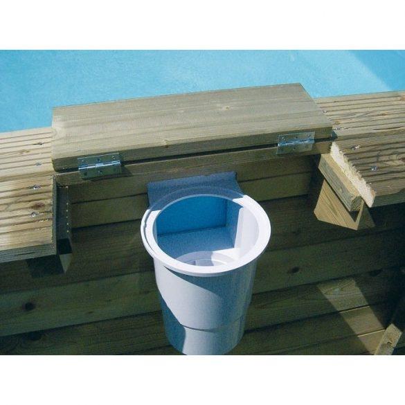 Luxus medence szett Azura 410cmx120cm kék fóliával (homokszűrővel)