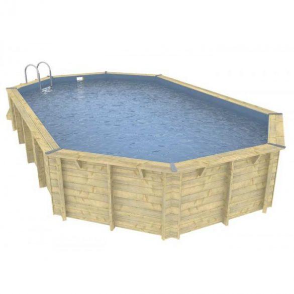 Luxus medence szett Ocea 470x860x130cm kék fóliával (homokszűrővel)