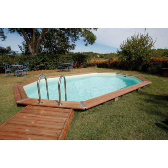 Luxus medence szett Ocea 400x610x130cm beige fóliával (homokszűrővel)
