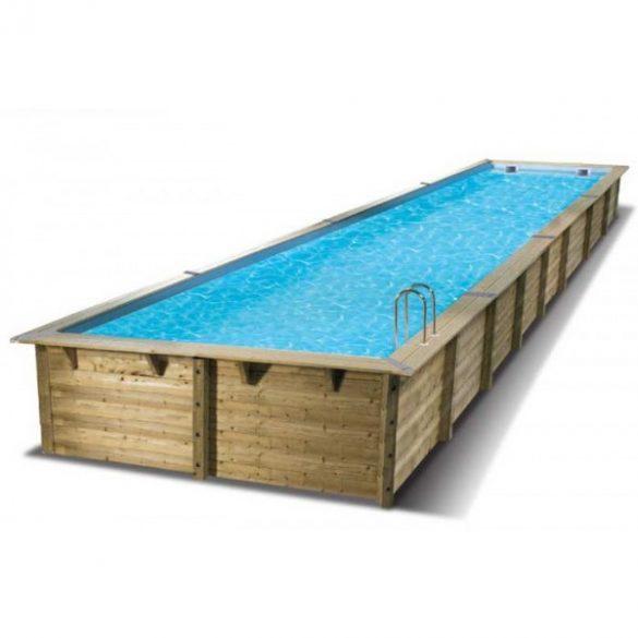Luxus medence szett Linea 350x1550x155cm beige fóliával (homokszűrővel)