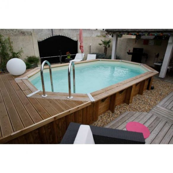 Luxus medence szett Ocea 355x550x120cm beige fóliával (homokszűrővel)
