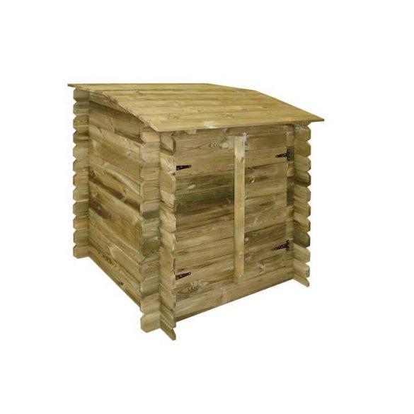 Szűrőház, fából 117x120x104cm (gépészet rejtés)