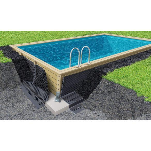 Nagy sűrűségű, polietilén vízelvezető membrán fa medencéhez, 1,5x20m