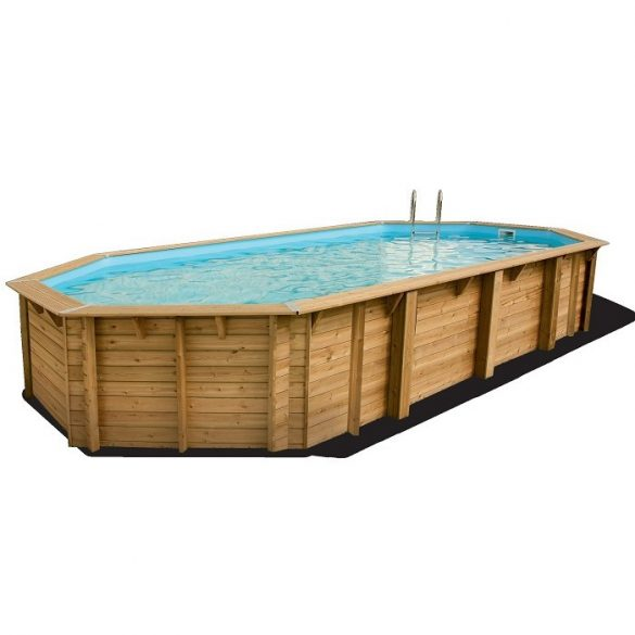 Luxus medence szett Azura 400x750x130cm beige fóliával (homokszűrővel)
