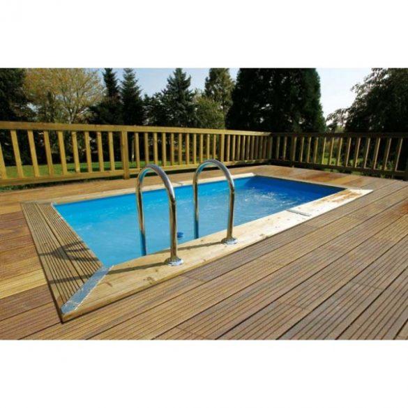Luxus medence szett UrbanPool 250x450x140cm kék fóliával (homokszűrővel)