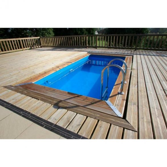 Luxus medence szett UrbanPool 250x450x140cm kék fóliával (homokszűrővel és hőszivattyúval)