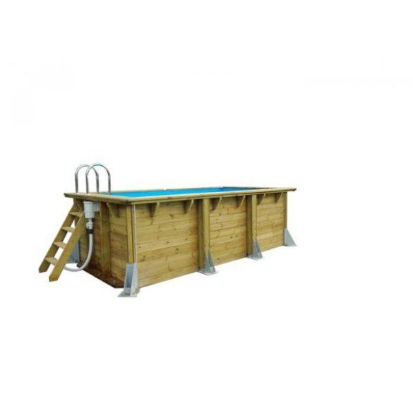 Luxus medence szett UrbanPool 250x450x140cm homok színű fóliával (homokszűrővel és hőszivattyúval)
