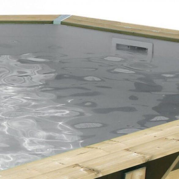Luxus medence szett Ocea 355x550x120cm homok színű fóliával (homokszűrővel)