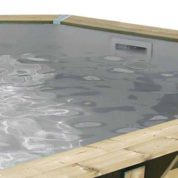 Luxus medence szett Ocea 400x610x130cm homok színű fóliával (homokszűrővel)