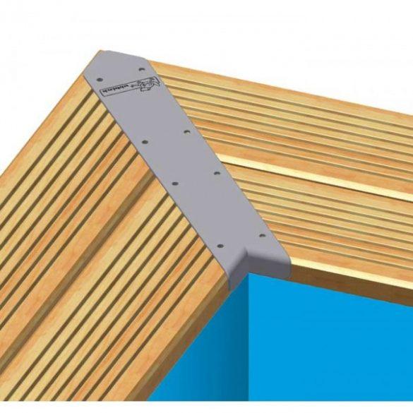 Luxus medence szett Linea 350x650x140cm homok színű fóliával (homokszűrővel)