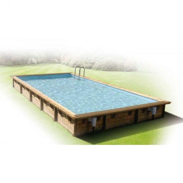 Luxus medence szett Linea 500x800x140cm kék fóliával (homokszűrővel)
