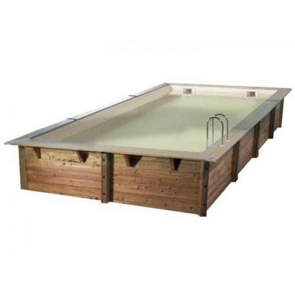 Luxus medence szett Linea 500x800x140cm beige fóliával (homokszűrővel)