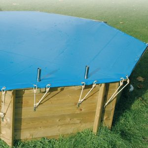 Medence takaró luxus medencére 550g 410 cm