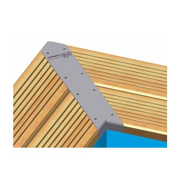 4db 45°-os összefogó vas, fa téglalap alakú medencékhez
