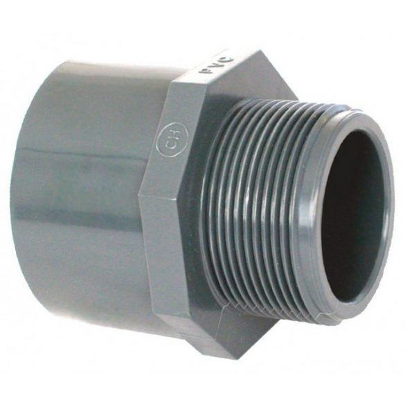 """PVC idom, külső menetes karmantyú, D63 mm - 2"""" (50mm)"""