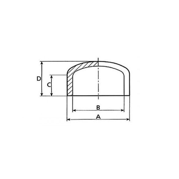 Zárókupak PVC nyomócsőhöz D50 mm
