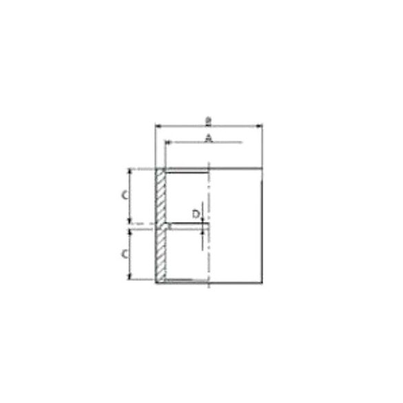 PVC idom, nyomócső toldó, D50 mm