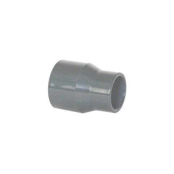 PVC idom, hosszú szűkítő karmantyú, D75 mm - D90 mm