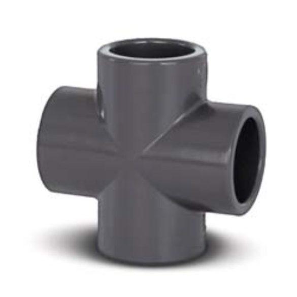 PVC idom, keresztidom, D50 mm