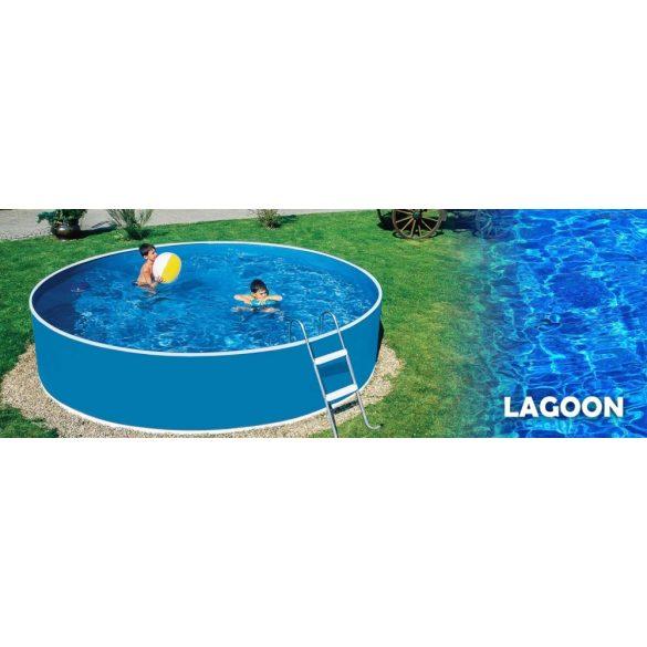 Lagoon fémpalástos medence szett, 460 x 90 cm, homokszűrővel, Wellis