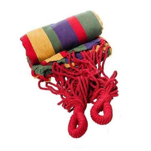 Kétszemélyes függőágy, piros, teherbírás 150 kg