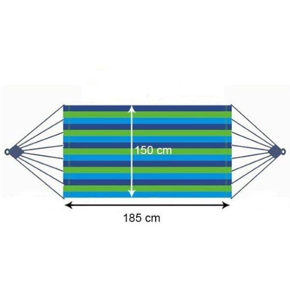 Kétszemélyes függőágy, kék, teherbírás 150 kg