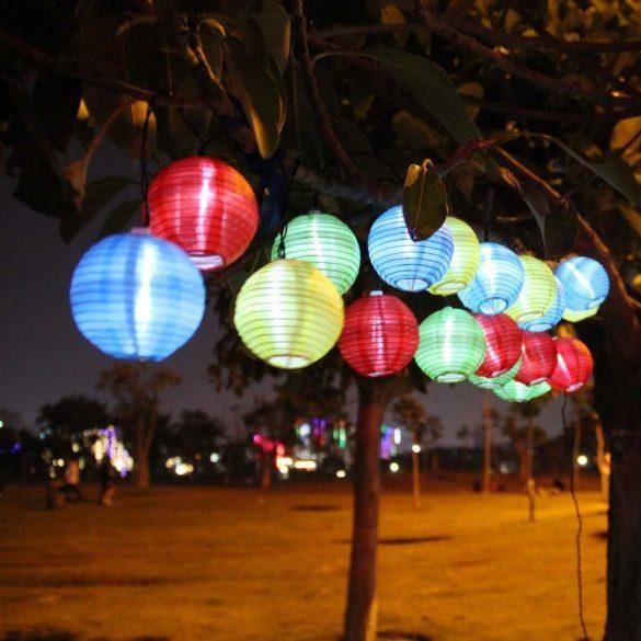 Party  lampion 10LED 10db gömb elemes (2xAA, nem tart.)