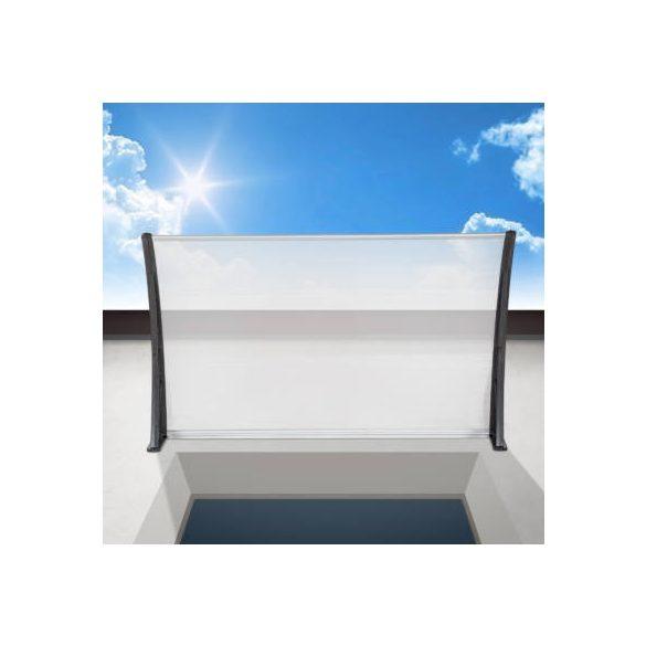 Műanyag előtető, 120x90 cm, fekete