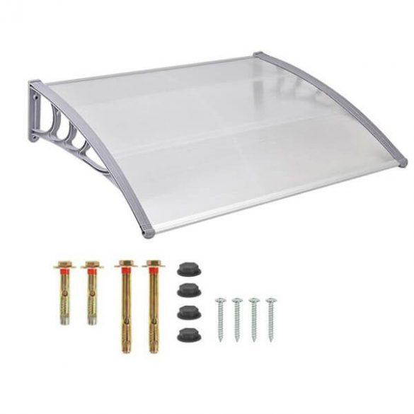 Műanyag előtető, 120x90 cm, fehér