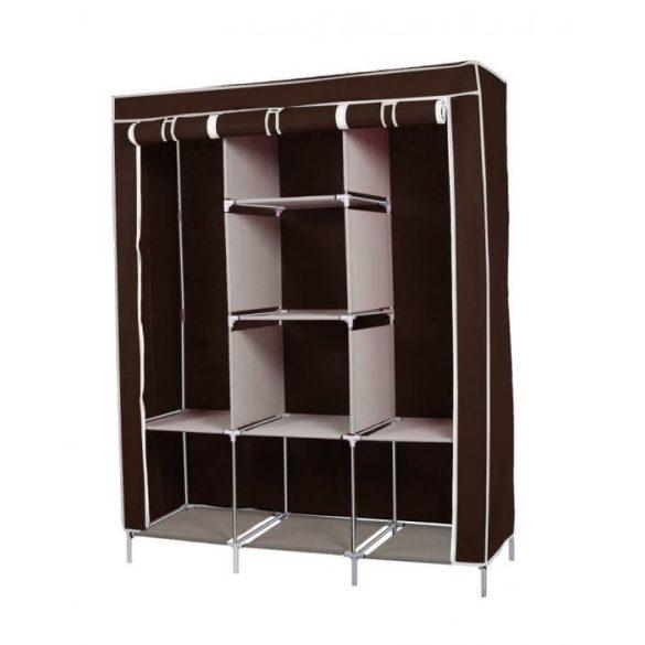 Mobil ruhás szekrény 130x45x170, barna