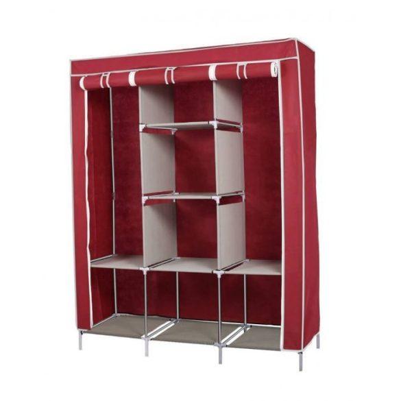 Mobil ruhás szekrény 130x45x170, bordó