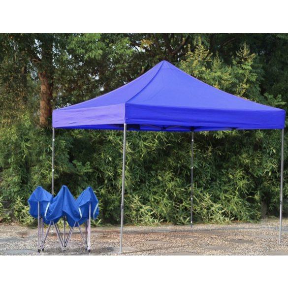 Kerti pavilon, összecsukható 3x3 m, kék