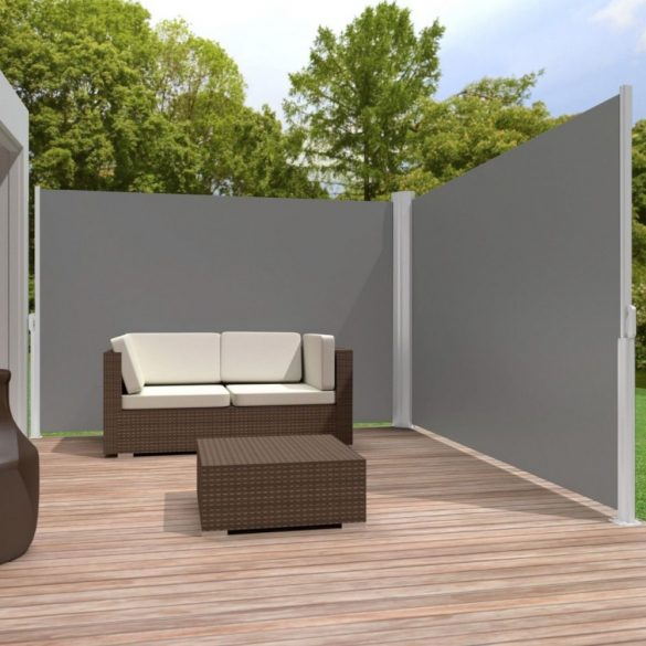 Kihúzható árnyékoló fal, 160*300 cm, fekete