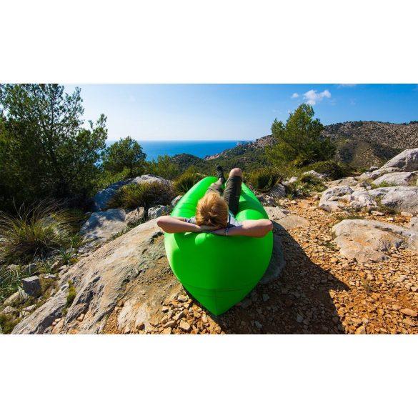 Levegővel tölthető relax ágy zöld