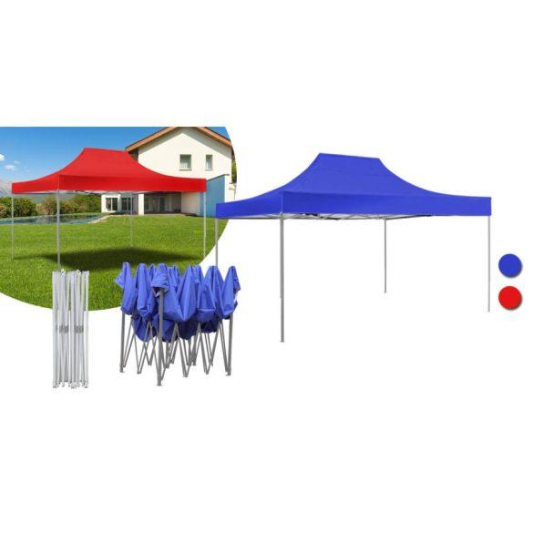 Kerti pavilon, összecsukható 3x4,5 m, fehér