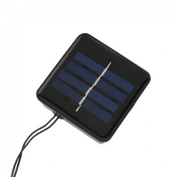 100 LED-es napelemes kerti fényfüzér, színes, 11,40 m