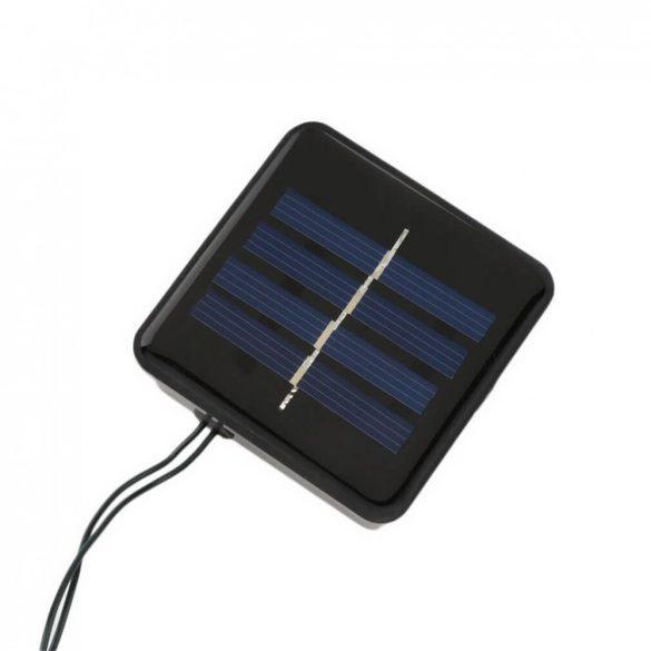 100 LED-es napelemes kerti fényfüzér, színes, 20 m