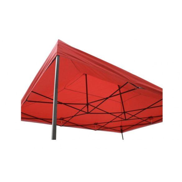 3x4,5 méteres összecsukható kerti pavilon hordtáskával, piros